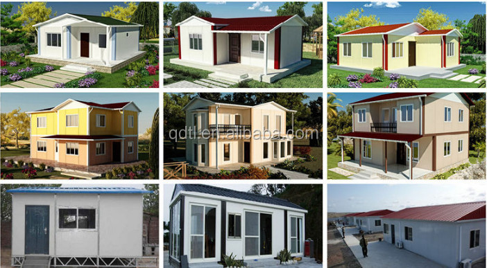 Europe style two-storey light steel structure prefab villa