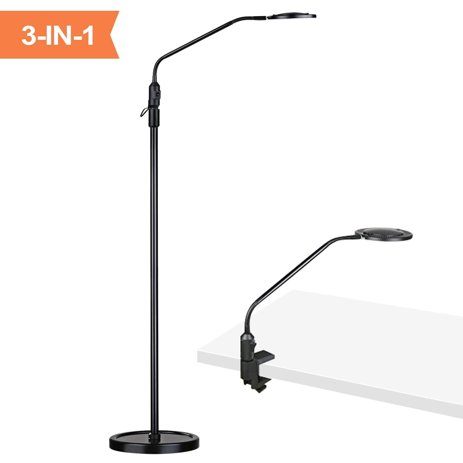 Aglaia Floor Lamp, Desk Lamp, 3 in 1 Craft Floor Lamp, 4X Facial Magnifier Light with Bright LED, Magnifying Floor Lamp for Living Room Bedroom Office Task
