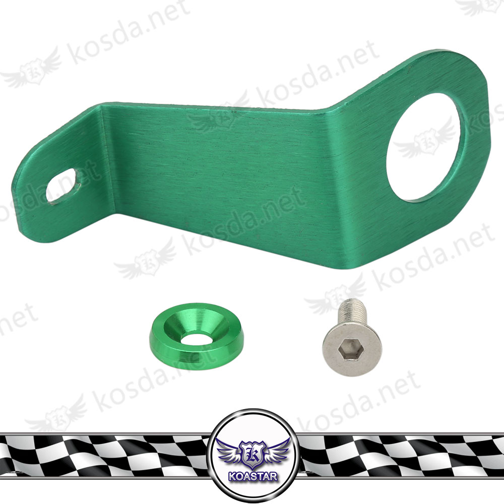 92-95 HONDA CIVIC RADIATOR STAY BRACKET BOLT GREEN KIT