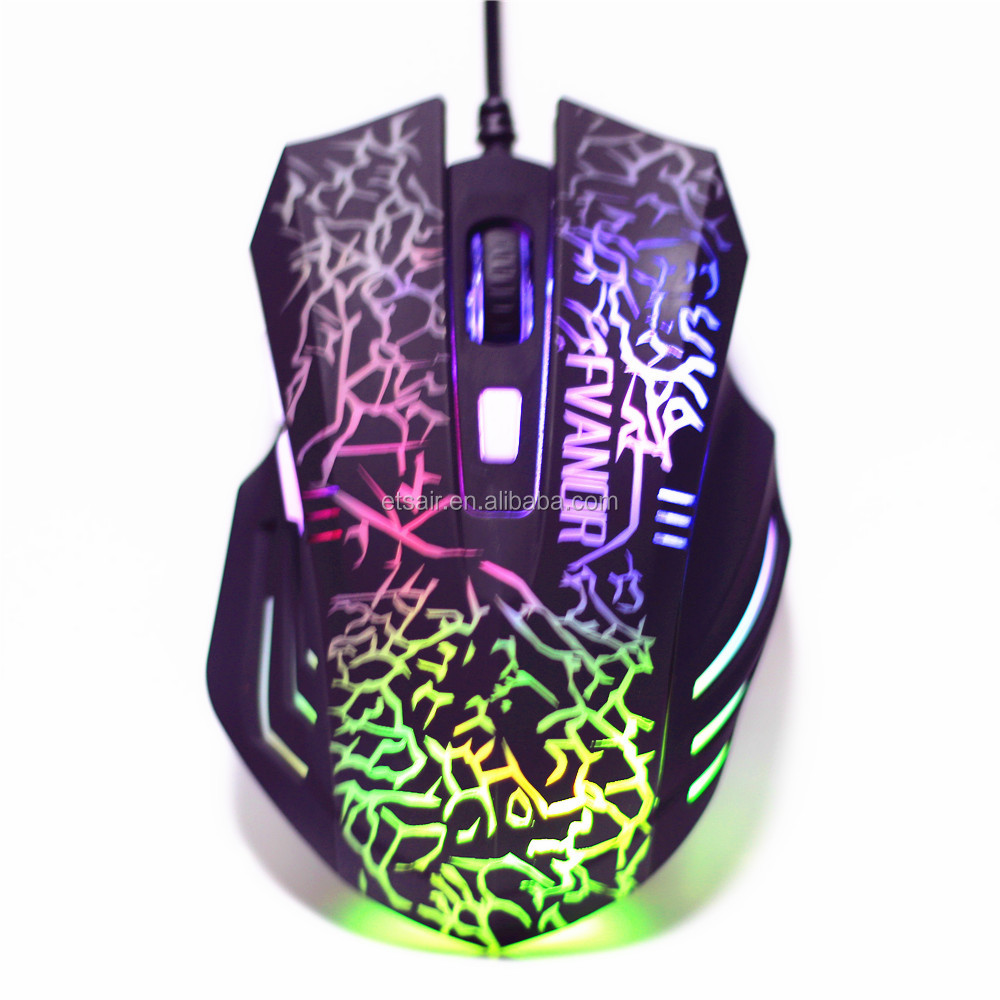 High Quality USB Gaming Mouse, Wired Colorful LED Light Optical Gaming Mouse With Adjustable DPI Switch Function
