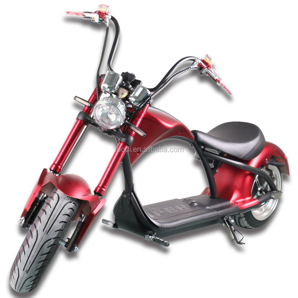 EEC/COC/CE 2000w60v20ah electric motorcycle citycoco Young fashion cool in Europe warehouse, Red