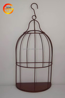 Hot selling Iron rustic hanging bird cage decor
