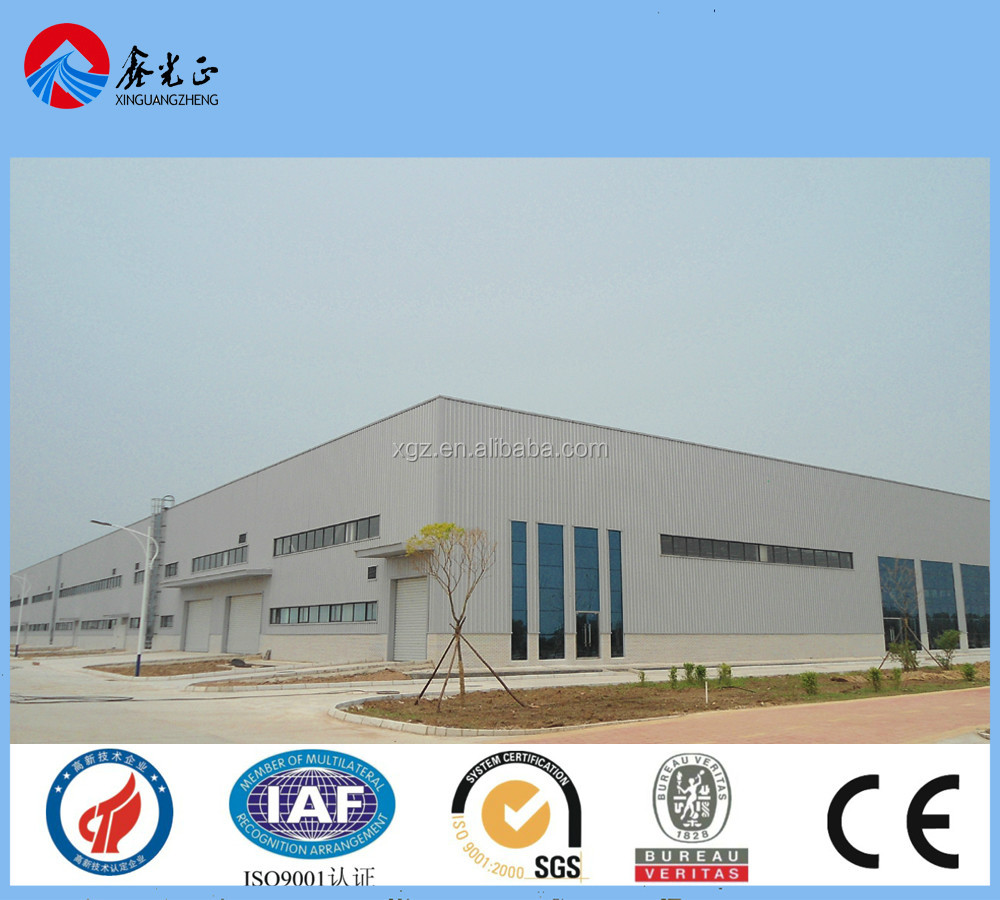 certification pre engineer fabricate steel frame warehouse