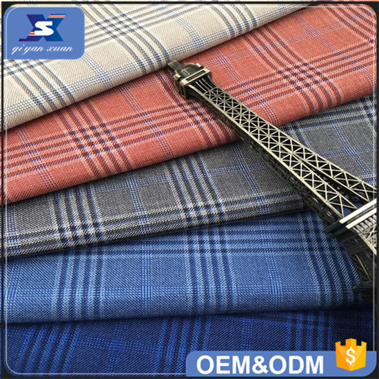 2017 Fashion T80% R20% Polyester Check TR Jacket Suit Fabric for Men Blazer Fabric for Wholesale