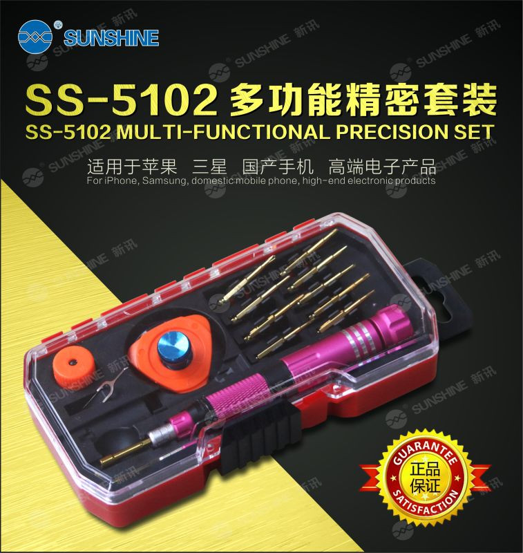 Super Hardness s2 Material Hand Screwdriver Tool Kit With 10 Interchangeable Tip For Mobile /Laptop Repair