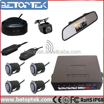 4.3 Inch Mirror Monitor Wireless Camera Parking Sensor System Camera and Sensor for Car