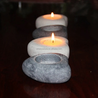 Wedding favors stone tealight candle holders
