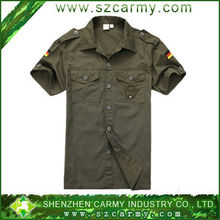 100% washed fabrics mens fashion shirts, germany style military shirts for man