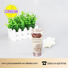 Yangzhou eco-friendly cosmetic tube packaging, flat oval plastic for yu order