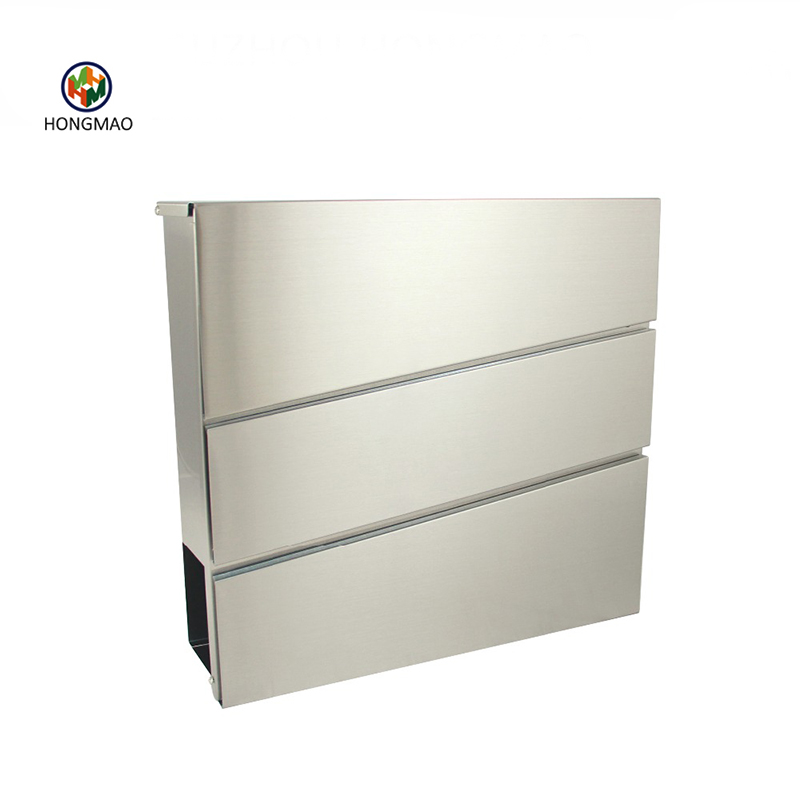 New Design Waterproof Stainless Steel Wall Mounted Mailbox