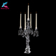 K-1097 unique decoration crystal table candelabra with angels stand