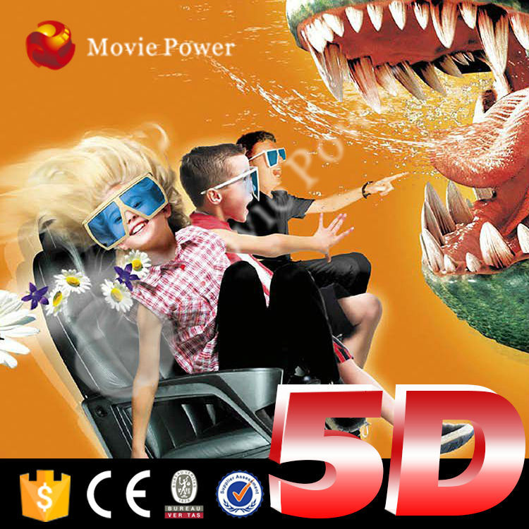 Hydraulic/Electric system 5d cinema chair 6 seters taiwan 5d cinema system 4d motion cinema seat by Movie Power