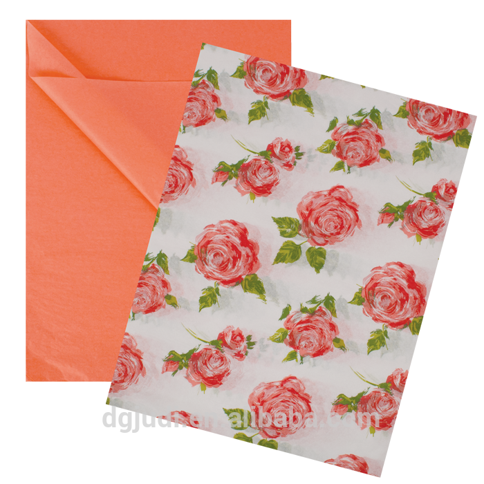 17gsm printed custom logo wrapping tissue paper