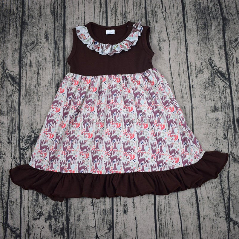 Sleeveless baby dress kids clothes cheap price child dress frock design for children
