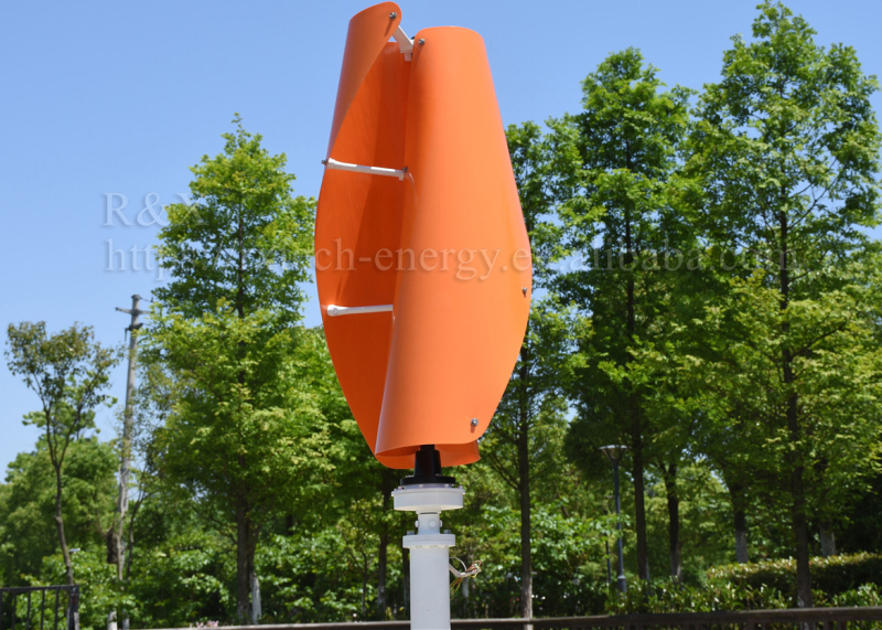 1kw vertical axis wind turbine spiral type 24v or 48v VAWT low wind speed