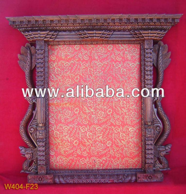 Nepali wooden carved photo frame / mirror hand craving frame