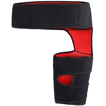 Hot Sale Neoprene Adjustable Breathable Hip Pain Relief Leg Brace Thigh Compression Sleeve