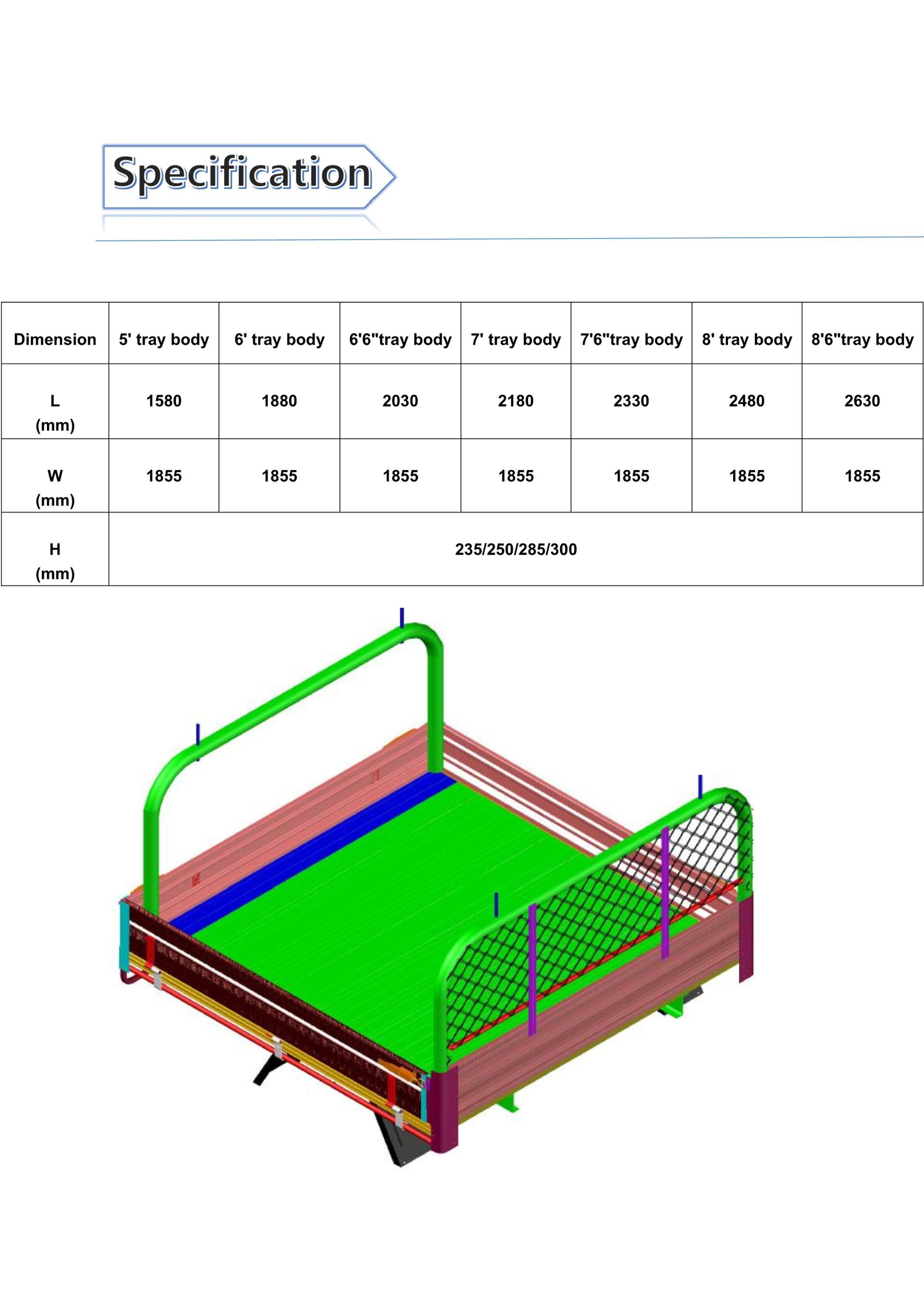 Aluminium pickup bed