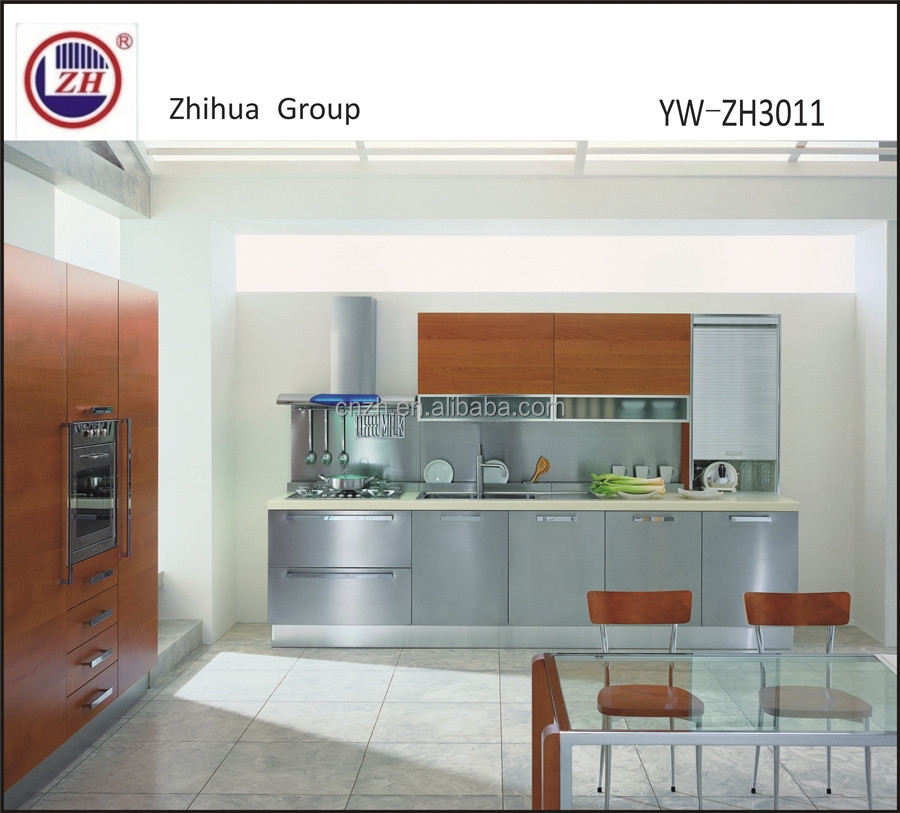 Moderne keuken kast zilveren en gouden kleur keuken kasten product ...