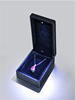 You Know This ? Export plastic jewelry box with PU leather led light point the ring