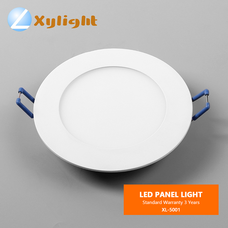 Aluminum Indoor panel light 6w 12w 18w round recessed smd 2835 led panel light