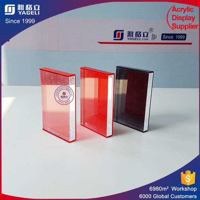 colorful plexiglass poster frame acrylic sign photo holder leaflet display frames customized sizes