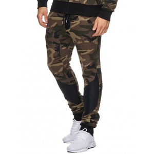 Custom sweatpants high quality fleece camouflage pants mens army trousers