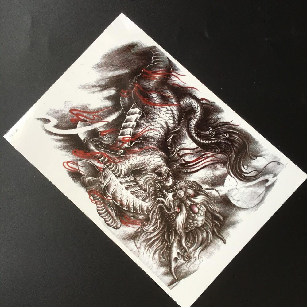 Body Art Mengerikan Karakter Tengkorak Stiker Tato Tubuh Sementara Sticker Tatto