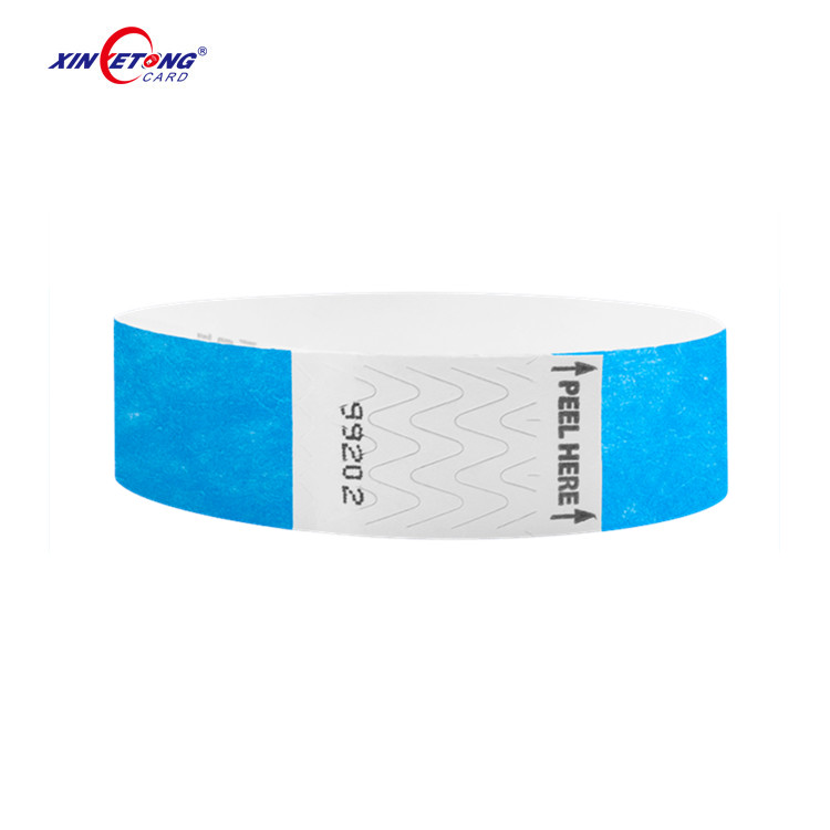 13.56MHz Rewritable HF Tag 213 Disposable Paper Tickets NFC Wristbands On Roll