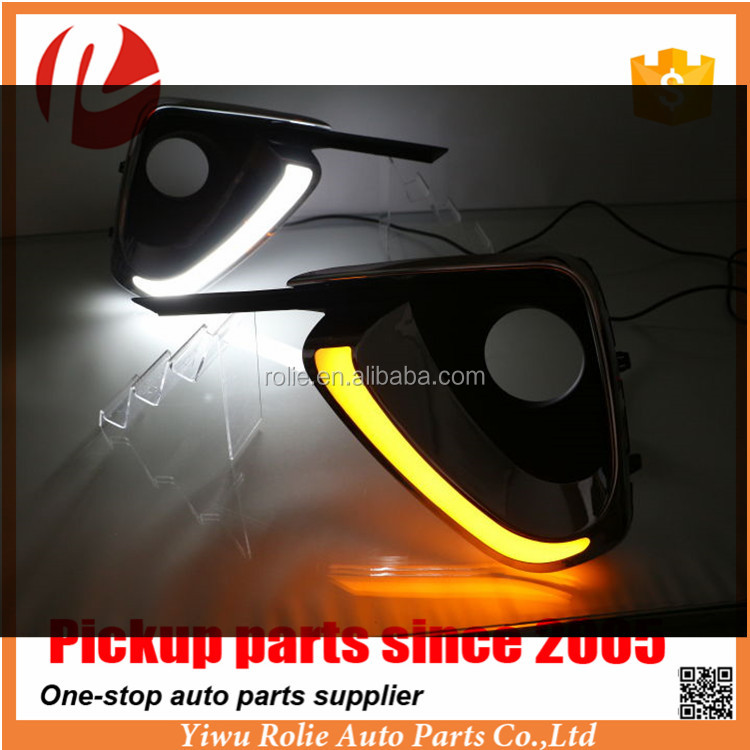 Two kinds of color LED fog lamp Daytime running lights for 2016 toyota fortuner accessories