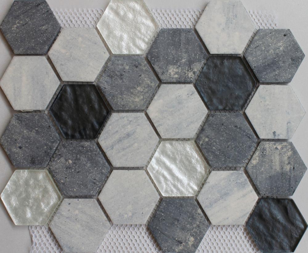 Morden design bianco e nero mosaico di piastrelle di ceramica
