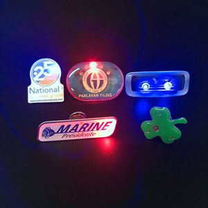Mini display name badge led flashing badge