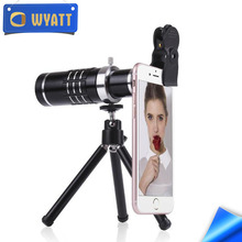 Wyatt 2017 Hot Sales smartphone camera lens universal clip 18X optical zoom telescope lens for mobile Phone with Metal stents