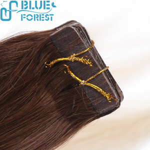 Double Drawn Colorful Tape Hair Extensions Top Quality PU Brazilian Remy Hair