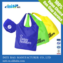Hot Sale Cheap Nice Design Polyester Foldable Tote Bag With Pouch