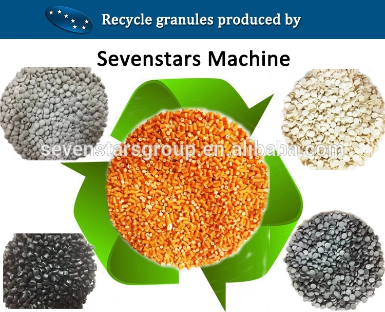 High quality PE PP PET PVC  plastic recycling granulator pelletizer machine price