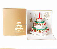 Wholesale handmade kirigami & origami 3d pop up birthday musical greeting card