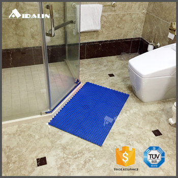 Washable 30mm custom rubber anti-slip toilet floor mat