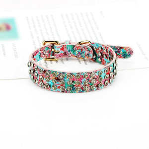 Fashion sale high-ranking Dog collar with Metal D-Ring buckle