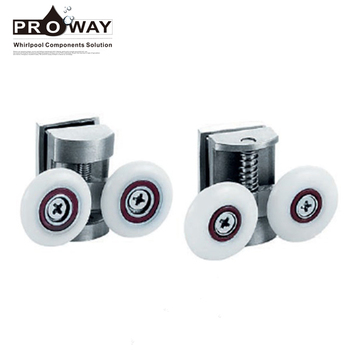 Shower Cabinet Accessories Stainless Steel Double Roller Sliding Door Runner  Wheels