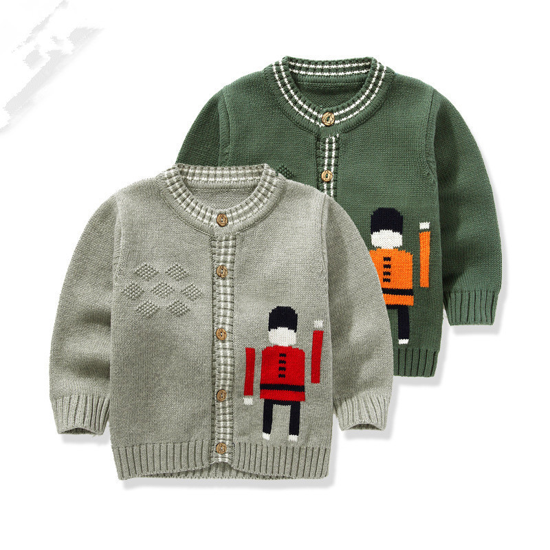 a02728fe8 Get Quotations · 2015 spring autumn fashion boys sweater kids high quality cardigan  sweater coat 100% cotton soldier
