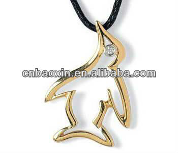 Christmas Promotionals Jewelry Abstract Lucky Golden Birds Necklace