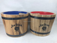 Ec-friendly custom natural wooden trash can/rubish bin/barrel