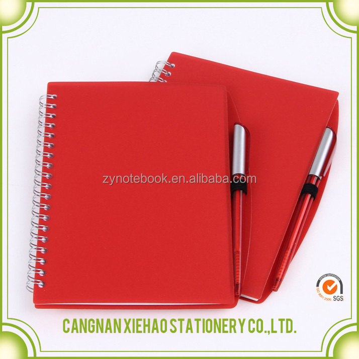 High Quality Personalized Hardcover spiral cool paper Notebook with colored paper