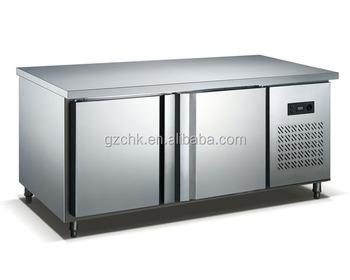 Mostrador Nevera/refrigerador De Acero Inoxidable 2 Puerta ...