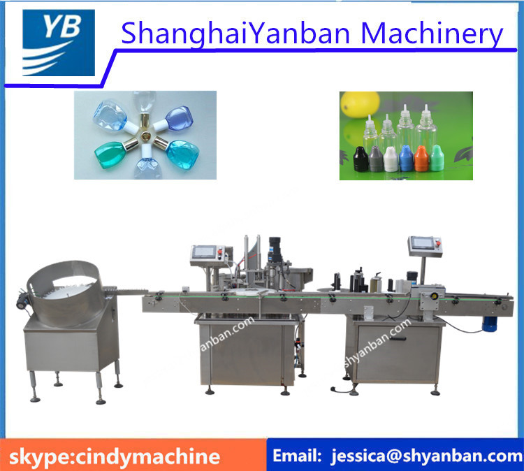 YB-YX2 Shanghai supplier e liquid filling line,e cigarette liquid labeling filling packing machine