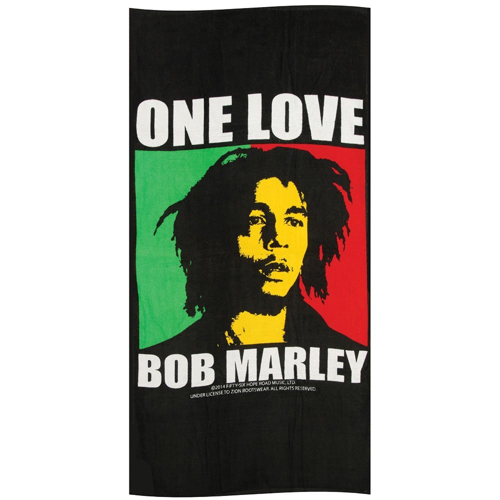 ef716b171cb4a Get Quotations · Zion Rootswear Bob Marley One Love Beach Towel