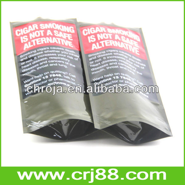 Custom Cigar Packing Arc Bottom Gusset Laminated Aluminum Foil Mylar Bags
