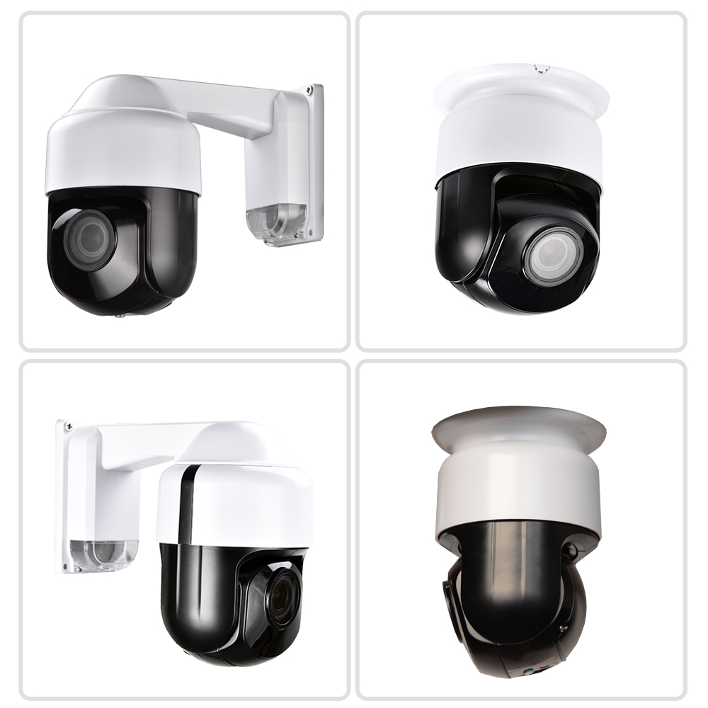 "CCTV Security Outdoor Indoor 3"" MINI Size Speed Dome POE PTZ Camera Network Full HD 1080P 4X Optical ZOOM"