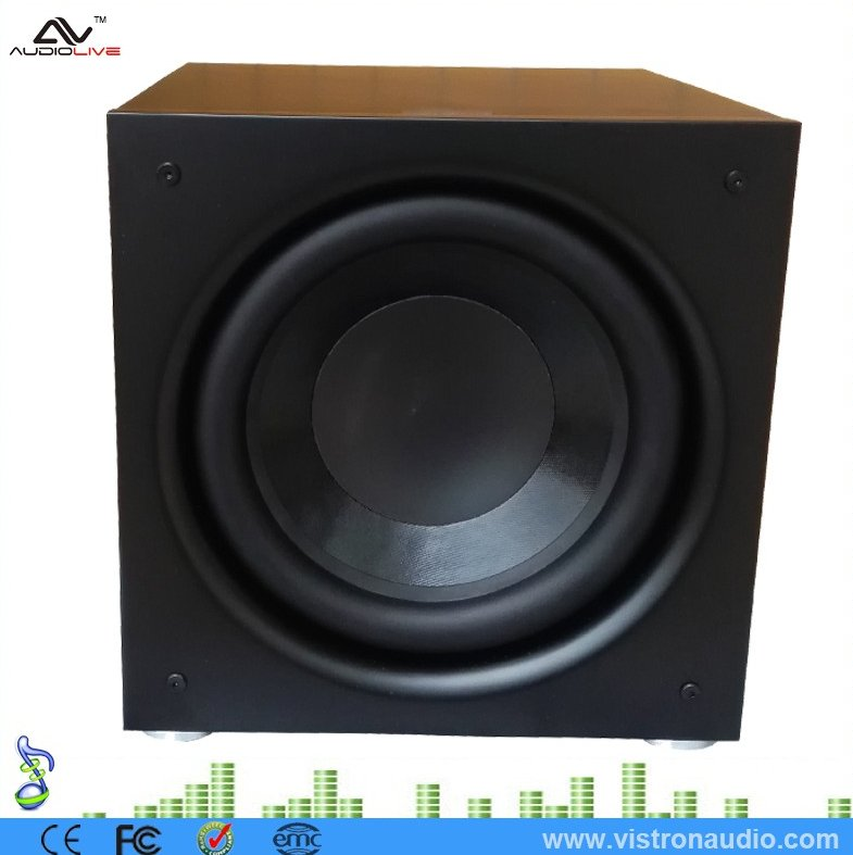 10-Inch 150 watt RMS Active Powered Stage Subwoofer in the Home Theater